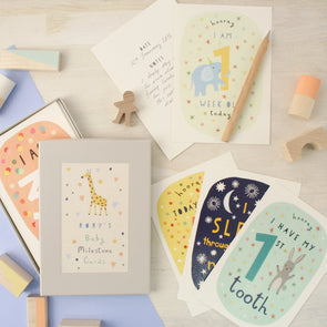 Personalised Baby Milestone Cards