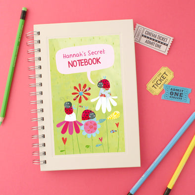 Personalised Ladybird Children's Notebook