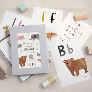 Personalised Animal Alphabet Flash Cards