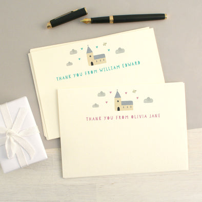 Personalised Christening Thank You Cards