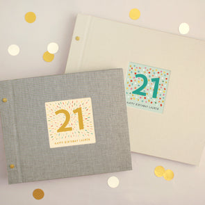 Personalised 21st Birthday Cloth Bound Photo Album With Box