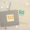 Personalised 50th Birthday Cloth Bound Photo Album With Box