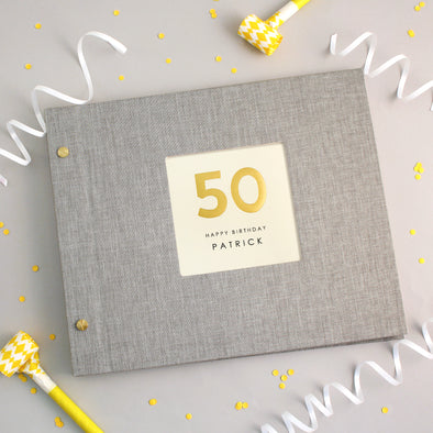 Personalised Hand Foiled 50th Birthday Photo Album