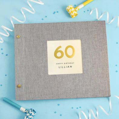Personalised Hand Foiled 60th Birthday Photo Album