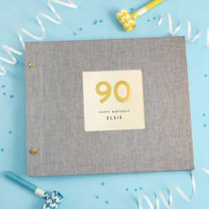 Personalised Hand Foiled 90th Birthday Photo Album