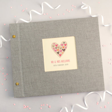Personalised Hearts Within Heart Wedding Photo Album