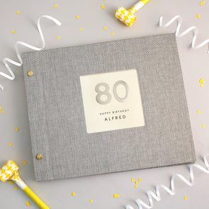 Personalised Hand Foiled 80th Birthday Photo Album