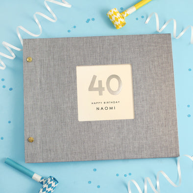 Personalised Hand Foiled 40th Birthday Photo Album