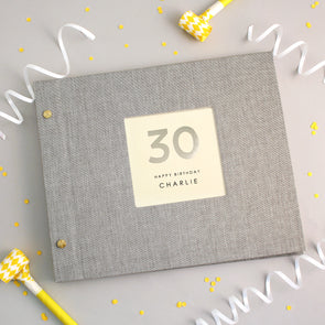 Personalised Hand Foiled 30th Birthday Photo Album
