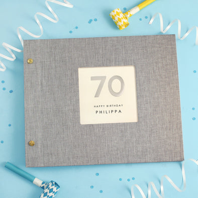 Personalised Hand Foiled 70th Birthday Photo Album