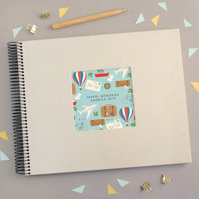 Personalised Travel Memories Book with Pattern Design
