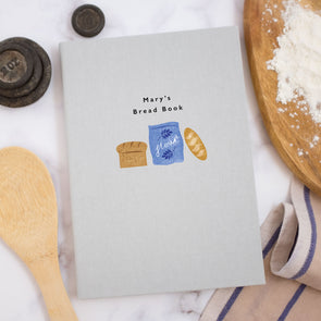 Personalised Bread Making A5 Cloth Bound Notebook