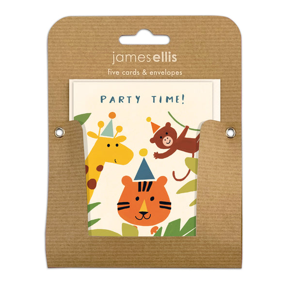 Pack of Five Jungle Invitations by James Ellis