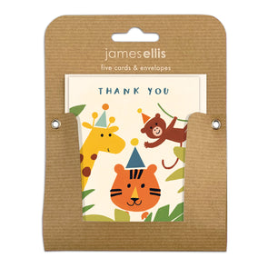 Pack of Five Jungle Thank You Cards by James Ellis