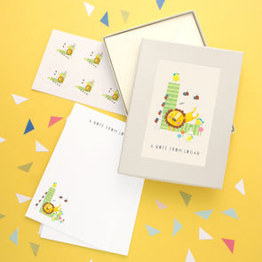 Personalised Illustrated Letter L Writing Set