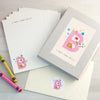 Children's wiring set with initial and personalised text