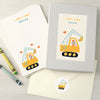 Personalised Children's Writing Set With Digger Design