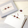 Personalised hedgehog writing set