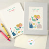 Personalised Children's Writing Set With Mermaid Design