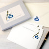 Personalised Pen And Ink Writing Set With Stickers