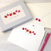Personalised writing set with strawberries design