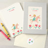 Personalised Children's Writing Set With Princess Design