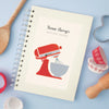 Personalised Mixer Wire Bound Lined Cook's Notebook