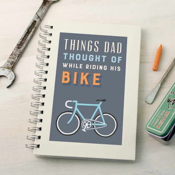 Personalised bike ideas wire bound notebook
