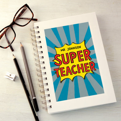 Super teacher notebook with personalisation