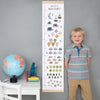 Personalised Numbers Canvas and Wood Height Chart