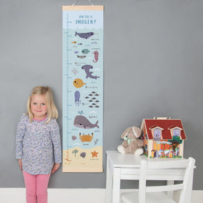 Personalised Ocean Height Chart