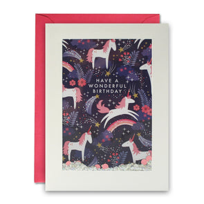 PH2990 - Unicorn Pattern Rectangular Shakies Card