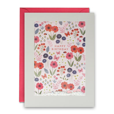 PH2993 - Flower Pattern Rectangular Shakies Card