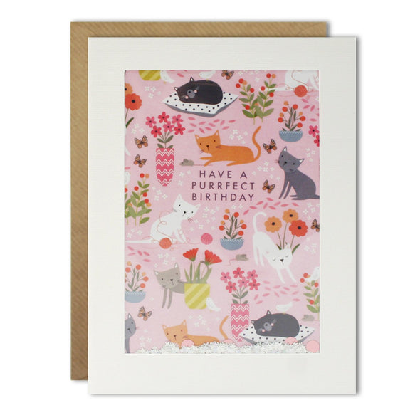 PH2997 - Cat Pattern Rectangular Shakies Card