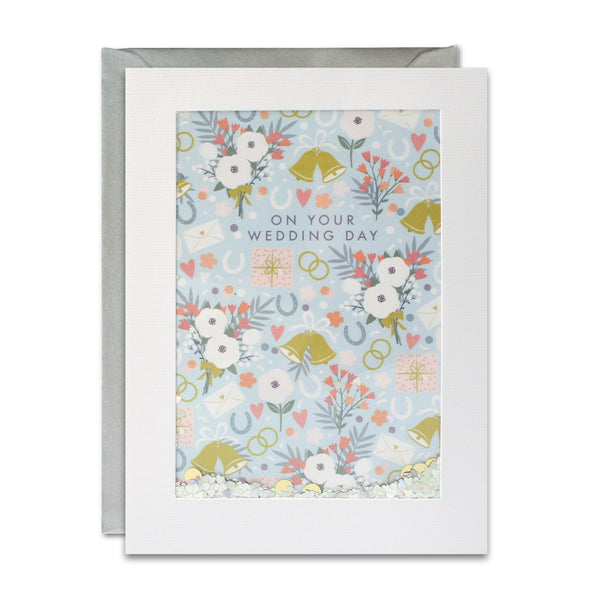 PH3020 - Wedding Pattern Rectangular Shakies Card