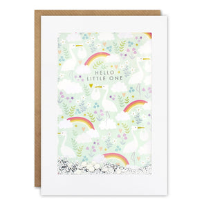 PH3031 - Rainbow Stork Pattern Rectangular Shakies Card