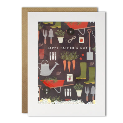 Dad Gardening Pattern Rectangular Shakies Card
