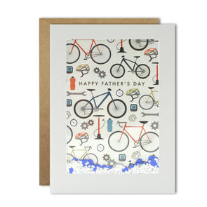 Dad Cycling Pattern Rectangular Shakies Card