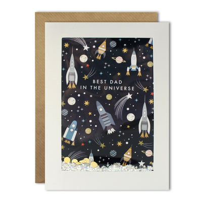 Dad Space Pattern Rectangular Shakies Card