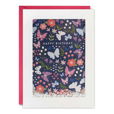 PH3058 - Butterfly Pattern Rectangular Shakies Card