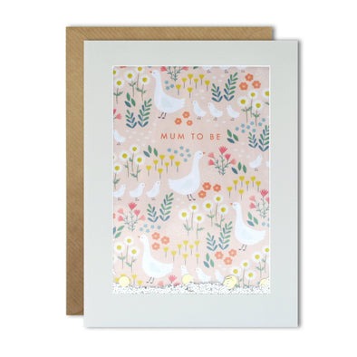 PH3060 - Geese Mum to Be Pattern Rectangular Shakies Card