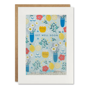 PH3132 - Get Well Soon Pattern Rectangular Shakies Card