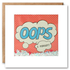 PK2529 - Oops I Forgot Kapow Shakies Card