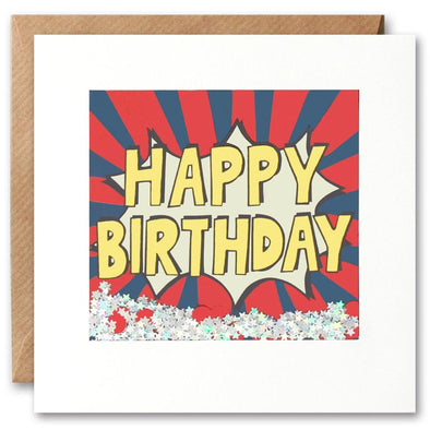 PK2533 - Happy Birthday Stripes Shakies Card