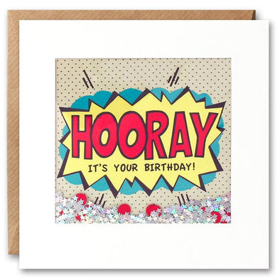 PK2536 - Hooray Birthday Kapow Shakies Card