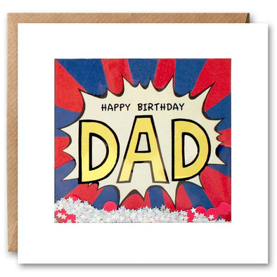 PK2608 - Dad Birthday Kapow Shakies Card