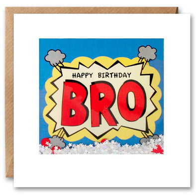 PK2611 - Bro Birthday Kapow Shakies Card
