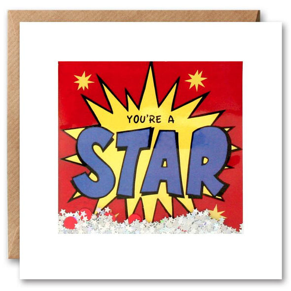 PK2653 - You're a Star Kapow Shakies Card