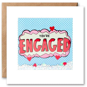 PK2666 - You're Engaged Kapow Shakies Card