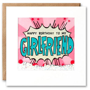 PK2802 - Girlfriend Birthday Kapow Shakies Card